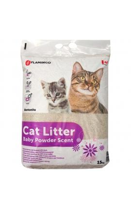 Flamingo Cat Litter Baby Powder Scent 15 KG