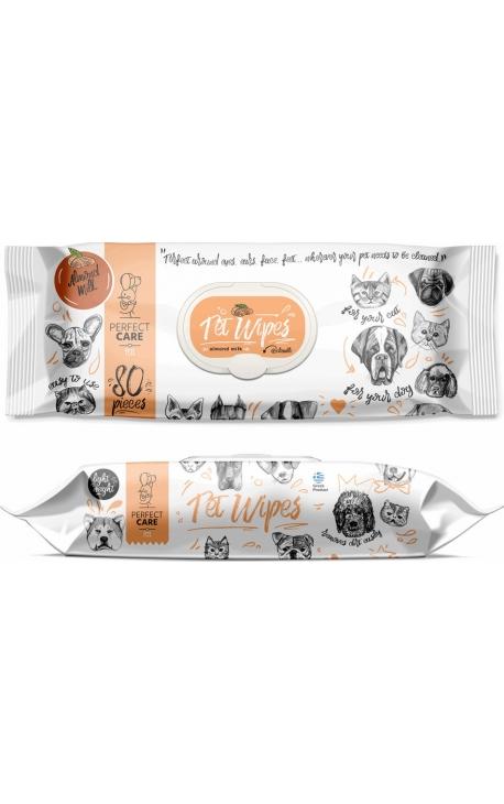 Perfect Care Pet Wipes Almond Milk