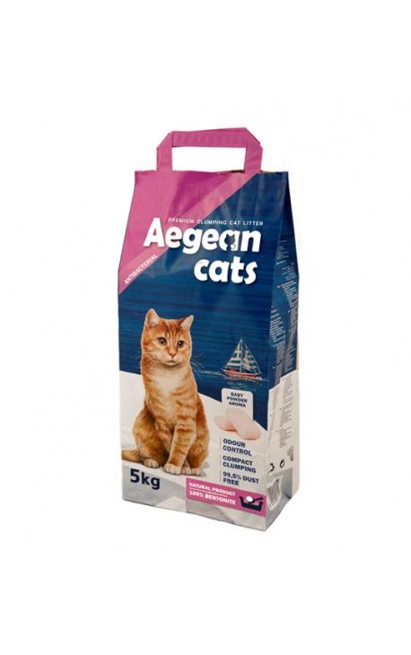 Aegean Cats Άμμος Υγιεινής για Γάτες 5kg - Άρωμα Πούδρας