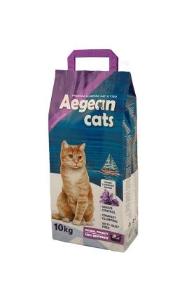 Aegean Cats Άμμος Υγιεινής για Γάτες 10kg - Άρωμα Λεβάντας