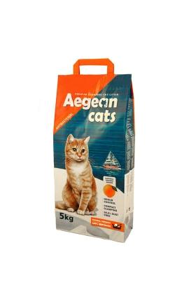Aegean Cats Άμμος Υγιεινής για Γάτες 5kg - Άρωμα Πορτοκάλι