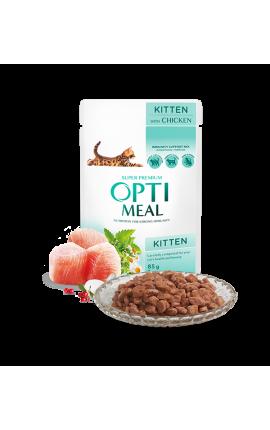 Optimeal Wet food for Kittens - Chicken