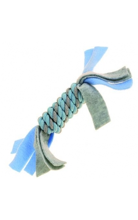 Happy Pet Little Rascals Fleecy Rope Coil Blue
