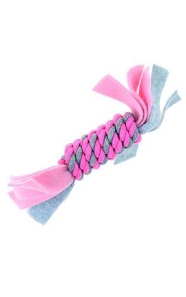 Happy Pet Little Rascals Fleecy Rope Coil Pink