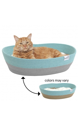 Pawise Woven Rope Cat Bed