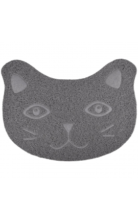 Flamingo Litter Tray Mat Zelda Grey