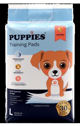 Puppies Εκπαιδευτικές Πάνες Σκύλου 60x60 30 τμχ