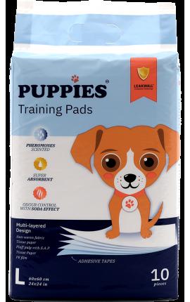 Puppies Εκπαιδευτικές Πάνες Σκύλου 60x60cm 10 τμχ