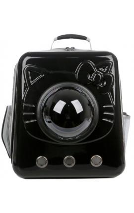 Pet Space Capsule Backpack Hello Kitty Black