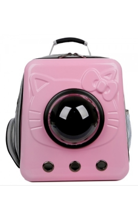 Pet Space Capsule Backpack Hello Kitty Pink