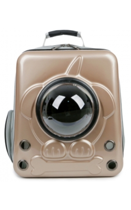 Pet Space Capsule Backpack Dog Gold