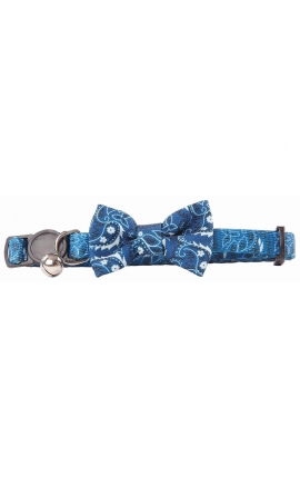 Pawise Cat Collar Bow Blue