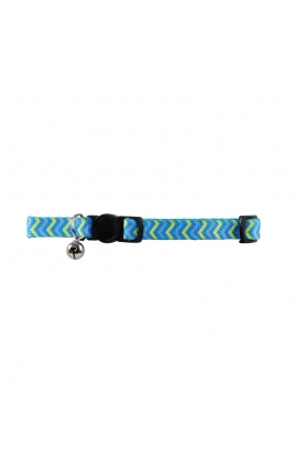 Pawise Cat Collar Blue Ripples