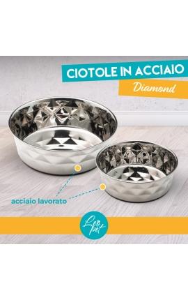 Leo Pet Inox Diamond Bowl 1650ml