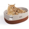 AFP Oval Cat Bed Brown