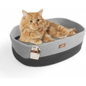 AFP Oval Cat Bed Grey