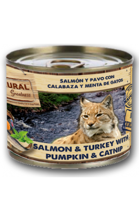 Natural Greatness Salmon & Turkey for cats